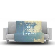 Beautiful Things by Rachel Burbee Fleece Throw Blanket