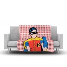 The Boy Wonder Pop by Roberlan Fleece Throw Blanket