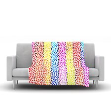 Rainbow Arrows by Sreetama Ray Fleece Throw Blanket