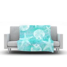 Seaside by Sylvia Cook Fleece Throw Blanket