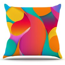 Still Life by Danny Ivan Warm Abstract Throw Pillow
