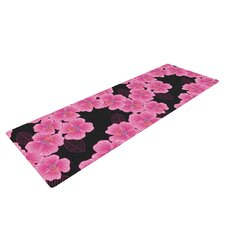 Pink on Black by Julia Grifol Yoga Mat