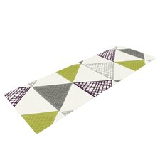 Textured Triangles by Laurie Baars Yoga Mat