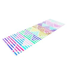 Stripes Cushion by Sreetama Ray Rainbow Chevron Yoga Mat