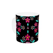 Dahlia Mandala by Anneline Sophia 11 oz. Pink Ceramic Coffee Mug