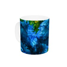 Flow by Claire Day 11 oz. Green Ceramic Coffee Mug