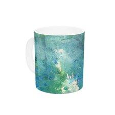 Sporatically by CarolLynn Tice 11 oz. Green Ceramic Coffee Mug