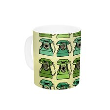 Grandma's Telephone by Holly Helgeson 11 oz. Green Ceramic Coffee Mug