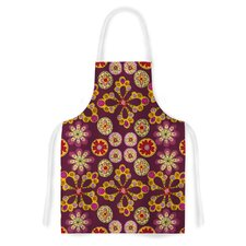 Indian Jewelry Floral by Jane Smith Purple Artistic Apron