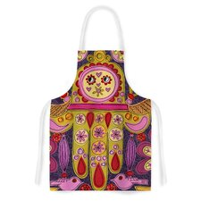 Indian Jewelry by Jane Smith Purple Artistic Apron