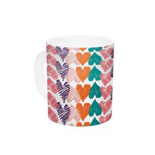 Hearts by Louise Machado 11 oz. Ceramic Coffee Mug