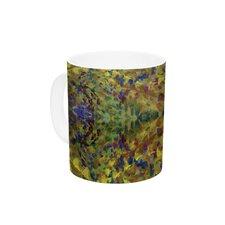 Jacket by Nikposium 11 oz. Green Abstract Ceramic Coffee Mug