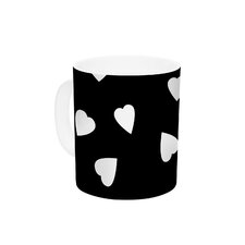 Hearts White by Suzanne Carter 11 oz. Ceramic Coffee Mug