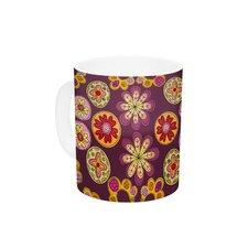 Indian Jewelry Floral by Jane Smith 11 oz. Purple Ceramic Coffee Mug