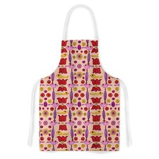 Indian Jewelry Repeat by Jane Smith Tan Artistic Apron