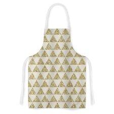 Glitter Triangles in by Nika Martinez Tan Yellow Artistic Apron