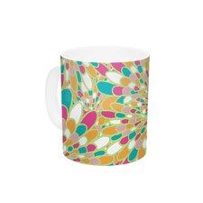 Flourishing Green by Miranda Mol 11 oz. Green Ceramic Coffee Mug