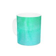Hawaiian by Monika Strigel 11 oz. Aqua Green Ceramic Coffee Mug