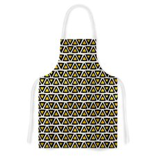 Aztec Triangles Gold by Pom Graphic Design Yellow Artistic Apron