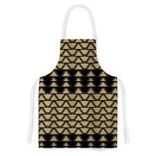 Deco Angles Gold by Nina May Artistic Apron