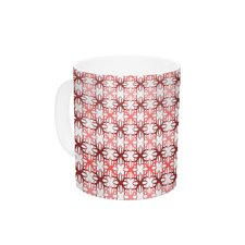 Pink Motifs by Nandita Singh 11 oz. Ceramic Coffee Mug