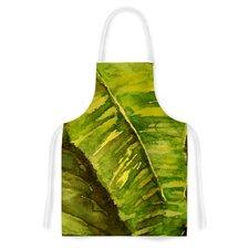 Tropical Garden by Rosie Leaf Green Artistic Apron