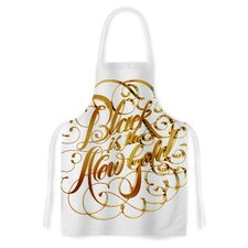 is the New Gold by Roberlan Metallic Typography Artistic Apron