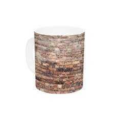 Rustic Bricks by Susan Sanders 11 oz. Orange Ceramic Coffee Mug
