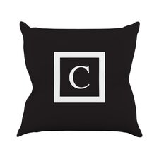 Monogram Solid Polyester Throw Pillow