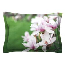 Magnolias by Angie Turner Cotton Pillow Sham, Green