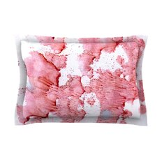 Soft Splashes by Iris Lehnhardt Red White Woven Sham