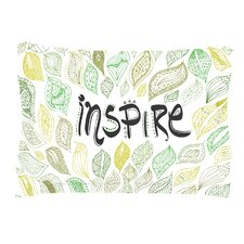 Inspire Nature by Pom Graphic Design Green Cotton Pillow Sham