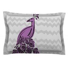 Peacock Purple by Brienne Jepkema Lavender Cotton Pillow Sham