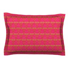 Woven Red by Julie Hamilton Woven Sham