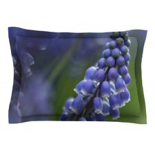 Grape Hyacinth by Angie Turner Cotton Pillow Sham, Green