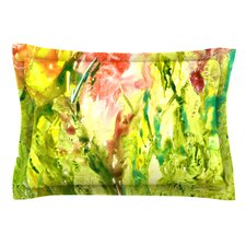 Green Thumb by Rosie Paint Lime Cotton Pillow Sham