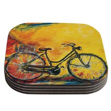 To Go Bicycle Coaster (Set of 4)