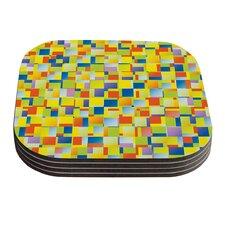 Multi Color Blocking Geometric Coaster (Set of 4)