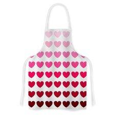 Hearts Fabric Artistic Apron