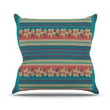Mahalo Denim Stripe Throw Pillow