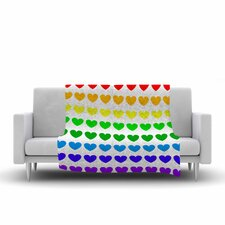 Hearts Fleece Throw Blanket