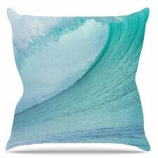 Ocean Blue Wave Throw Pillow