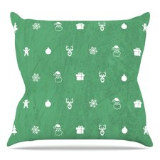 Cheery Pattern Throw Pillow