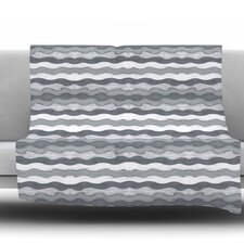 51 Shades of Gray by Empire Ruhl Fleece Throw Blanket