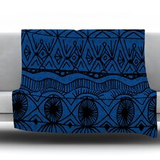 Black and Blue by Catherine Holcombe Fleece Throw Blanket