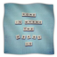Home Is Where The Heart Is Fleece Throw Blanket