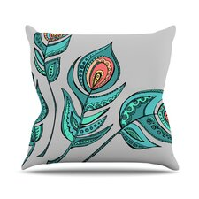 Feathers by Brienne Jepkema Cotton Throw Pillow