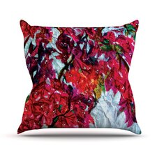 Bougainvillea by Mary Bateman Throw Pillow
