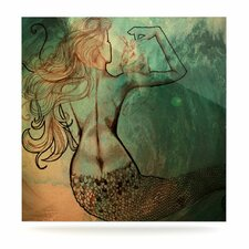 Poor Mermaid by Theresa Giolzetti Painting Print Plaque