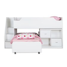 Mobby Twin Loft Bed with Trundle and Storage Unit